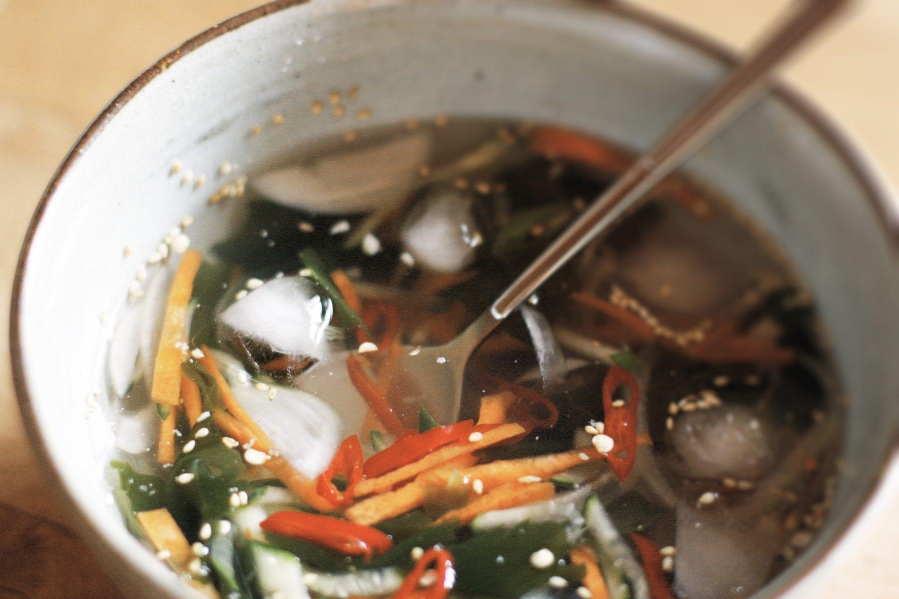 Miyeok Oi Naengguk - Cold Cucumber Soup