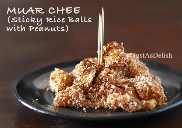Penang Muar Chee - Sticky Rice Balls with Peanuts