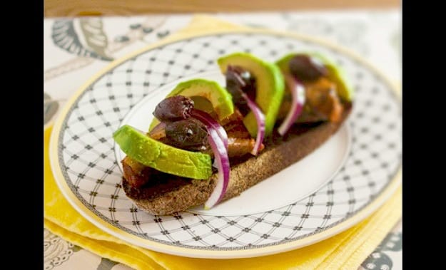 Sardine Avocado Bruschetta Recipe