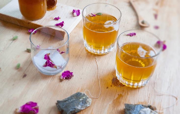 Cardamom and Saffron Exotic Iced Tea