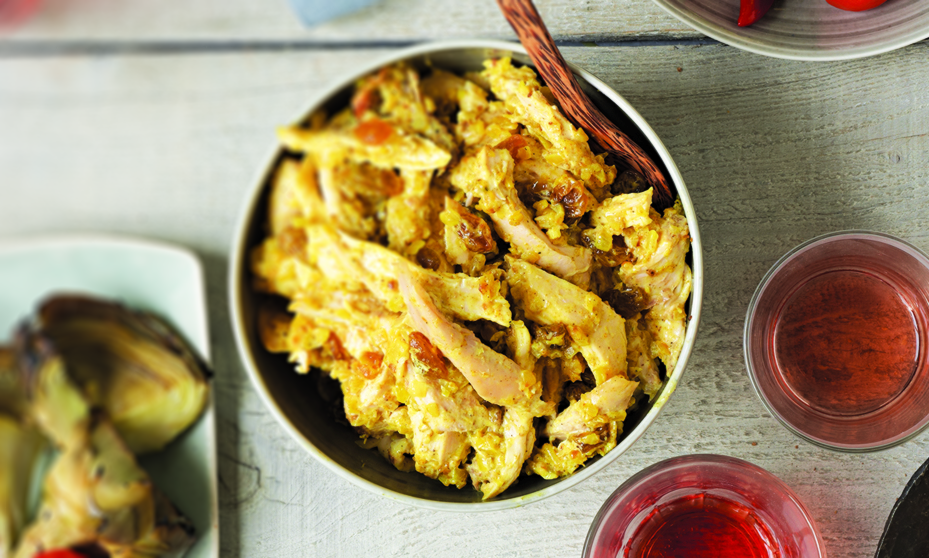 Curried Chicken Salad with Golden Raisins, Lime and Honey