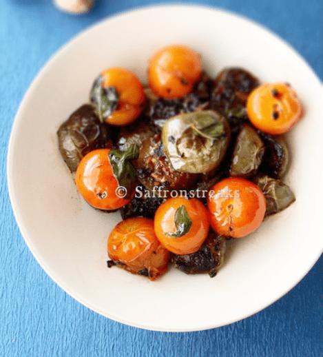 Thai Eggplants with Cherry Tomatoes