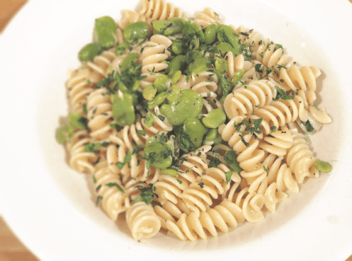 Pasta with Ramps and Favas