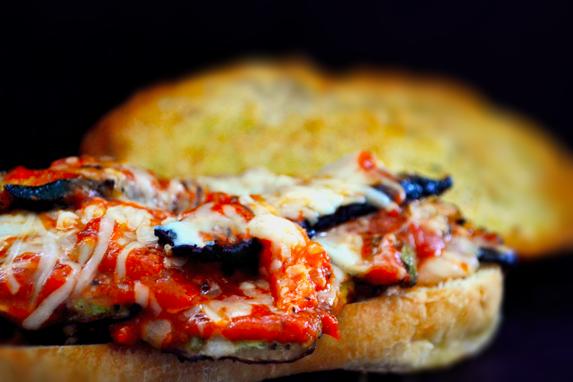 Summer Squash Parmigiana Sandwich