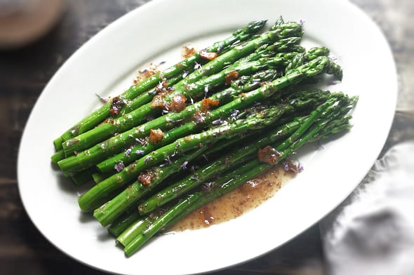 Asparagus with Pancetta and Apple Cider Vinaigrette