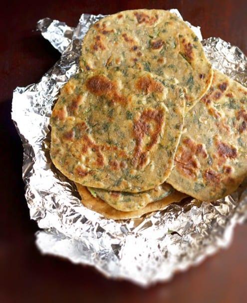 Palak Paratha - Spinach Flatbread