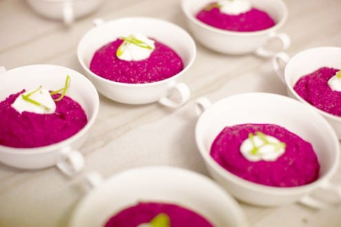 Red Beet and Ginger Purée