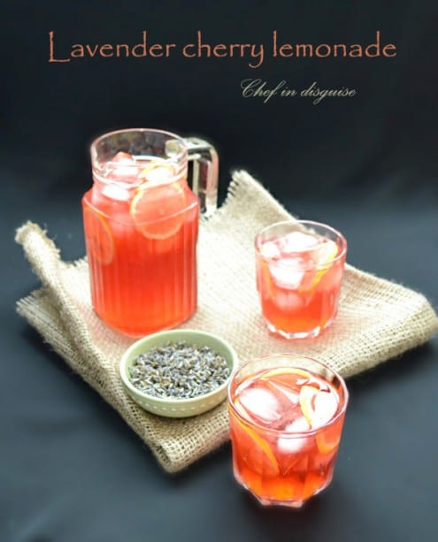 Cherry Lavender Lemonade