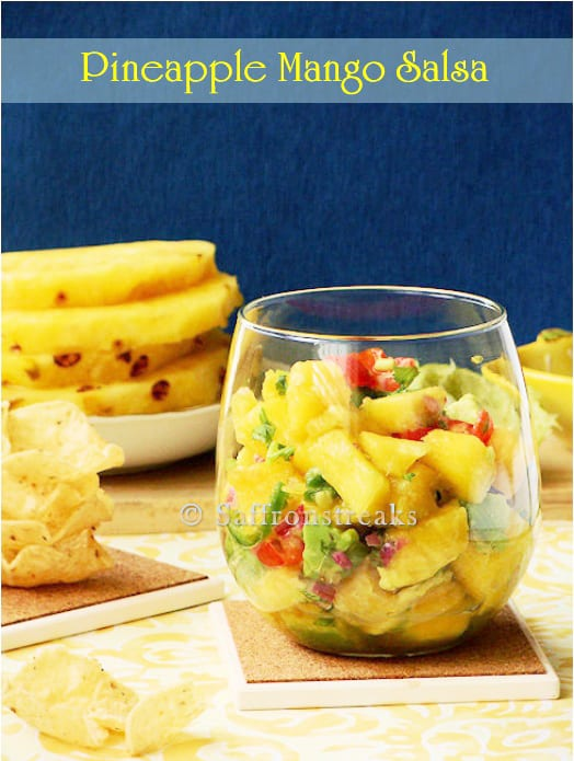 A Summer Refreshment - Pineapple, Mango and Avocado Salsa