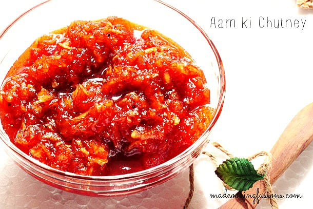 Sweet and Spicy Raw Mango Chutney