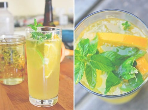Summer Cocktail - Herbed Citrus Radler