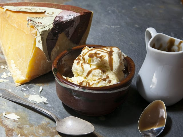 Hirten Cheese Ice Cream and Stout Caramel Recipe