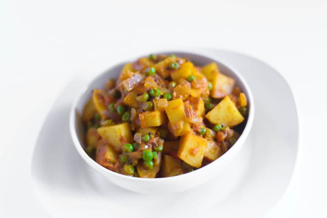 Aloo Matar - Peas with Potatoes