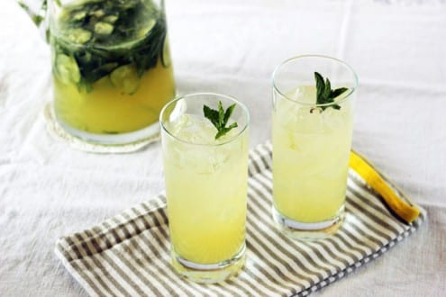 Boozy Mint Lemonade