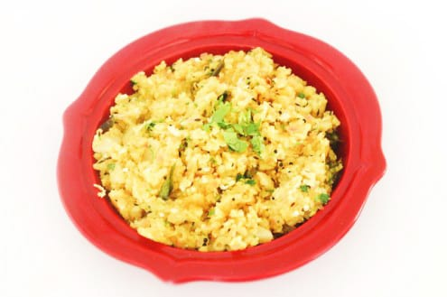 Breakfast Poha - Indian Flattened Rice