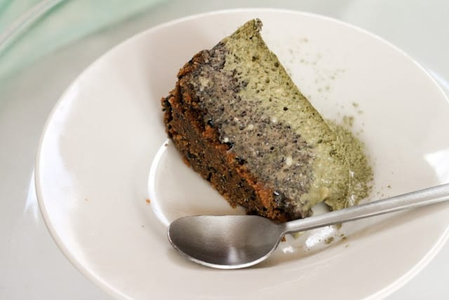 Matcha Black Sesame Cheesecake