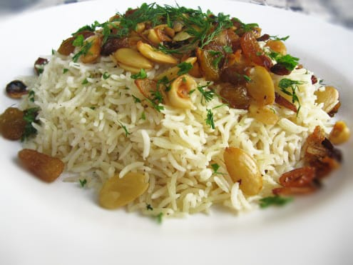 Oriental Rice with Nuts and Fresh Herbs