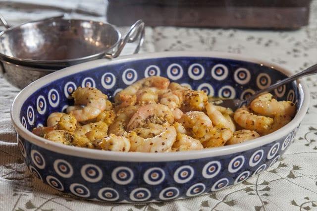 Steamed Shrimp With Mustard Seeds