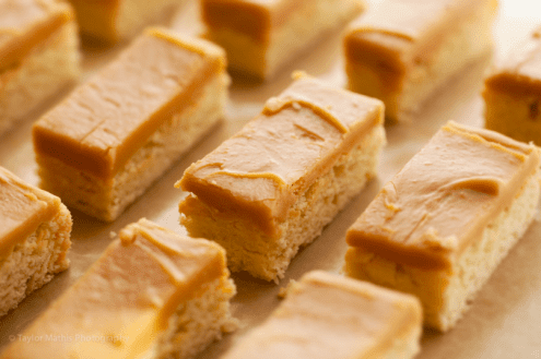 Caramel Frosted Lemon Sugar Cookie Bars