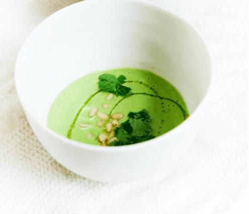cold avocado corn soup with cilantro oil recipes dishmaps cold avocado ...