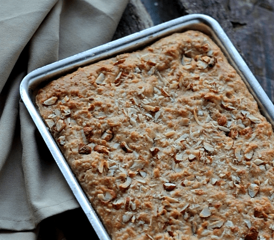Oatmeal and Almond Slices