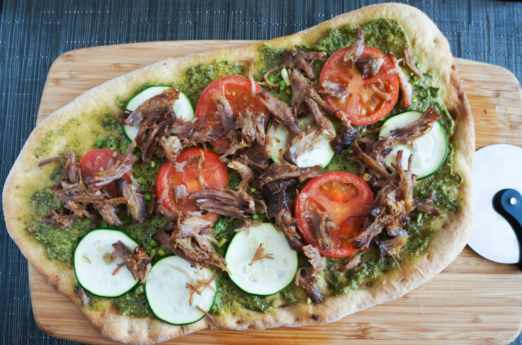 Toasted Pernil Flat Bread