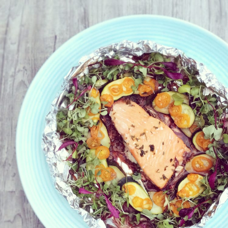 Broiled Salmon with Balsamic Butter Sauce