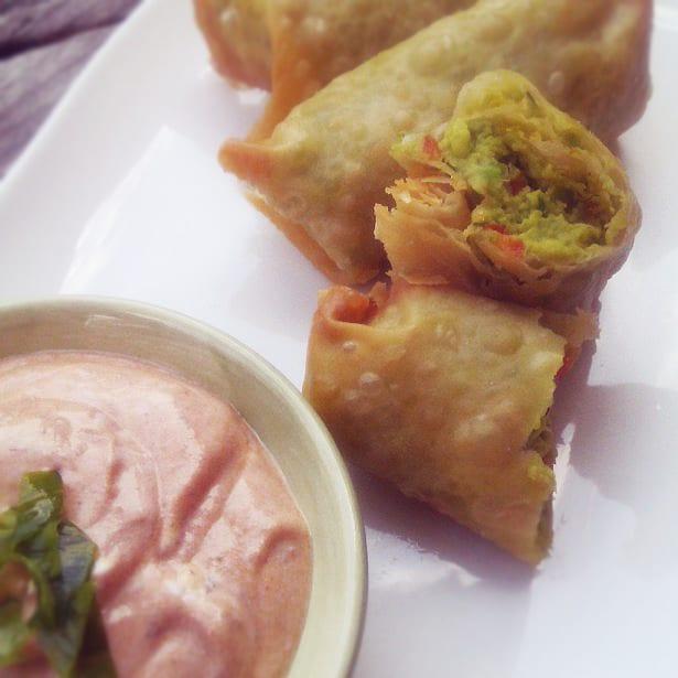 Guacamole Egg Roll