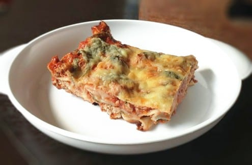 Spinach, Gouda and Beef Lasagna