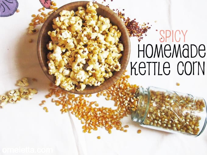 Spicy Homemade Kettle Corn