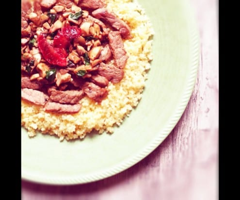Couscous with Veal and Deglazed Mushrooms