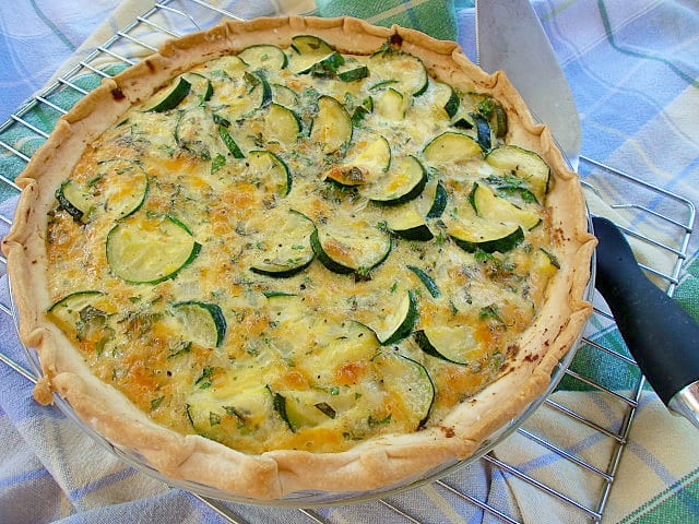 Fresh Herb and Zucchini Pie