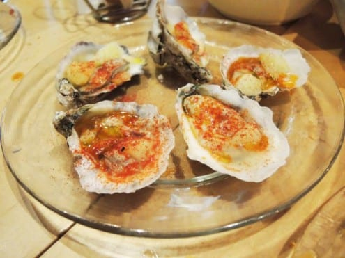 Warm oysters at Jaleo