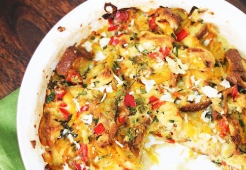 Savory Vegetable Bread Pudding