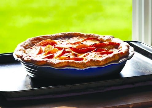 Deep Dish Buttermilk Peach Pie