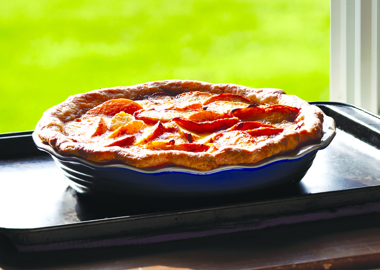 Deep Dish Buttermilk Peach Pie