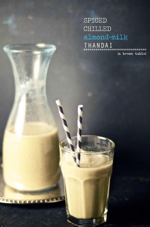 Spiced Chilled Almond Milk Thandai