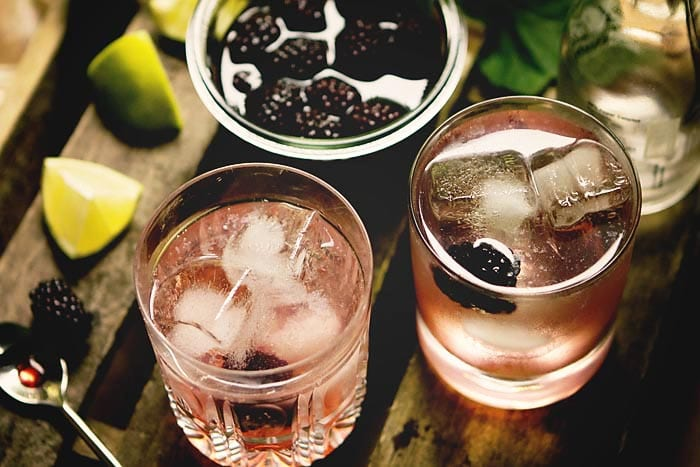 Pickled-Berry Gin and Tonic