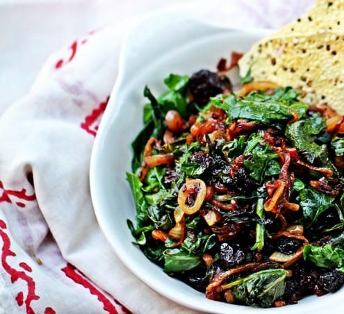 Kale with Caramelized Onions