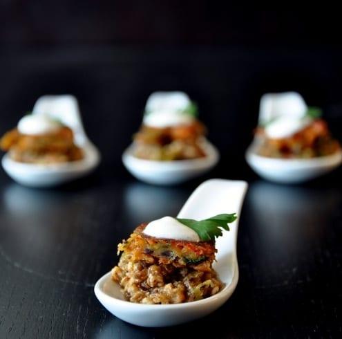 Chicken Keema Fritter Spoons