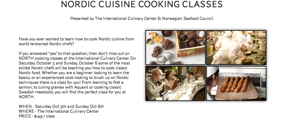 Cooking Classes Nordic Cuisine