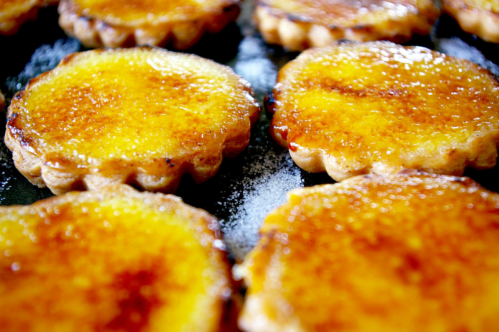 Cinnamon and Vanilla Bean Creme Brulee Tartlets