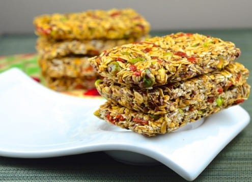Flax Seed Granola Bars with Pistachios and Goji Berries