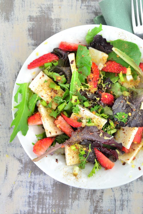 Pumpkin Seed, Mozzarella and Strawberry Salad