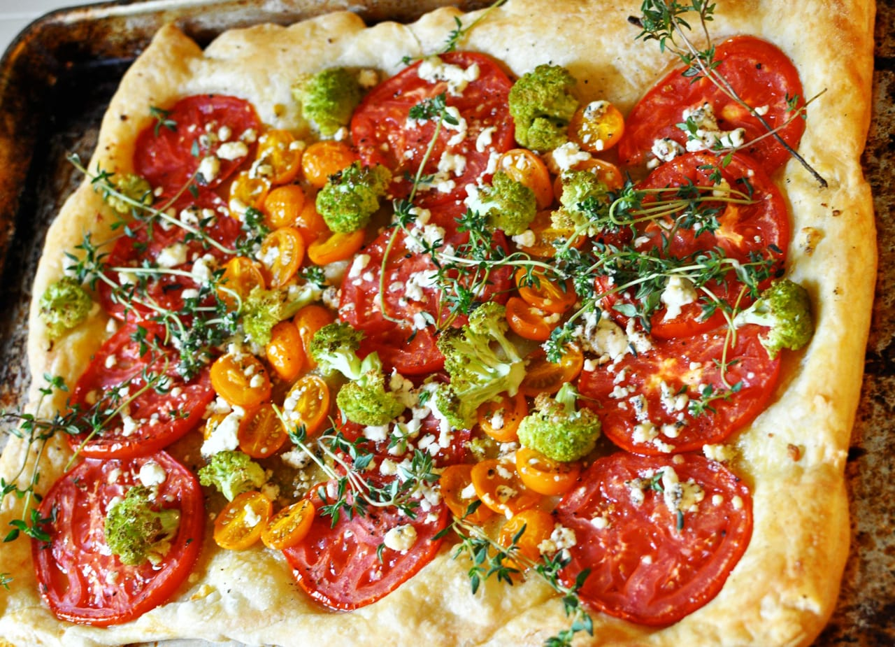 Tomato and Cauliflower Tart