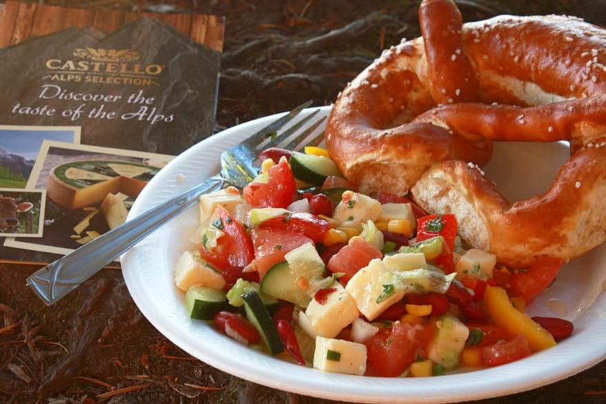German Picnic Salad with Weissbier Cheese