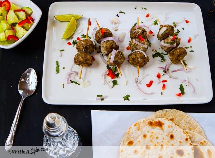 Kafta Mishwiyyeh, Lebanese Meatballs