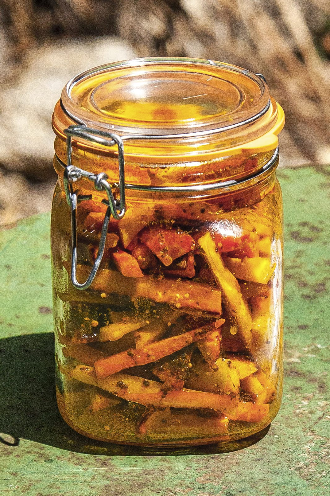 Solar-Powered Indian Pickled Carrots