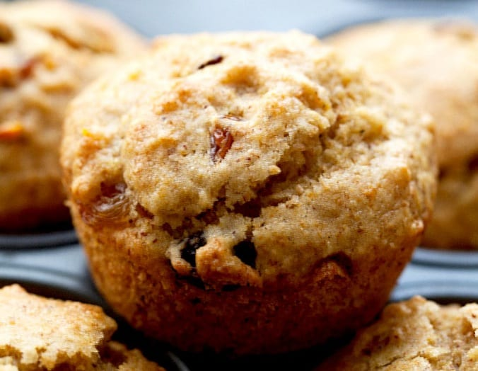 Orange Raisin Wheat Germ Muffins