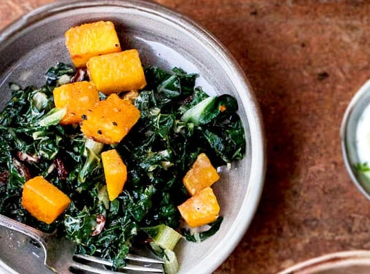 Silverbeet and Pumpkin Hash